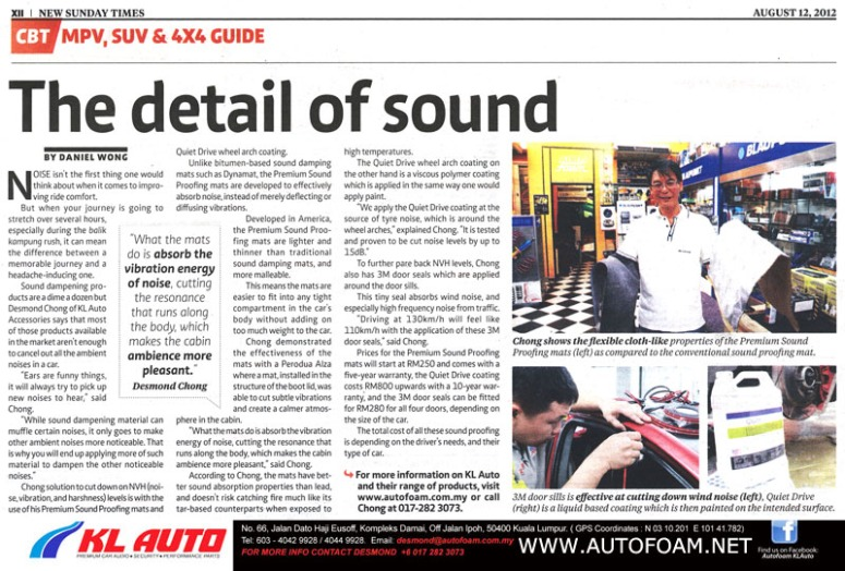 CBT article by KLAUTO 12.08.2012