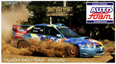 saladin rally car with autofoam